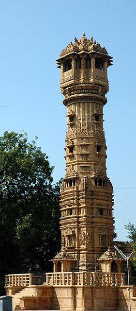 Tower in the compound of Hatti (Hathi) Singh ni vadi, Ahmedabad, Guajarat,