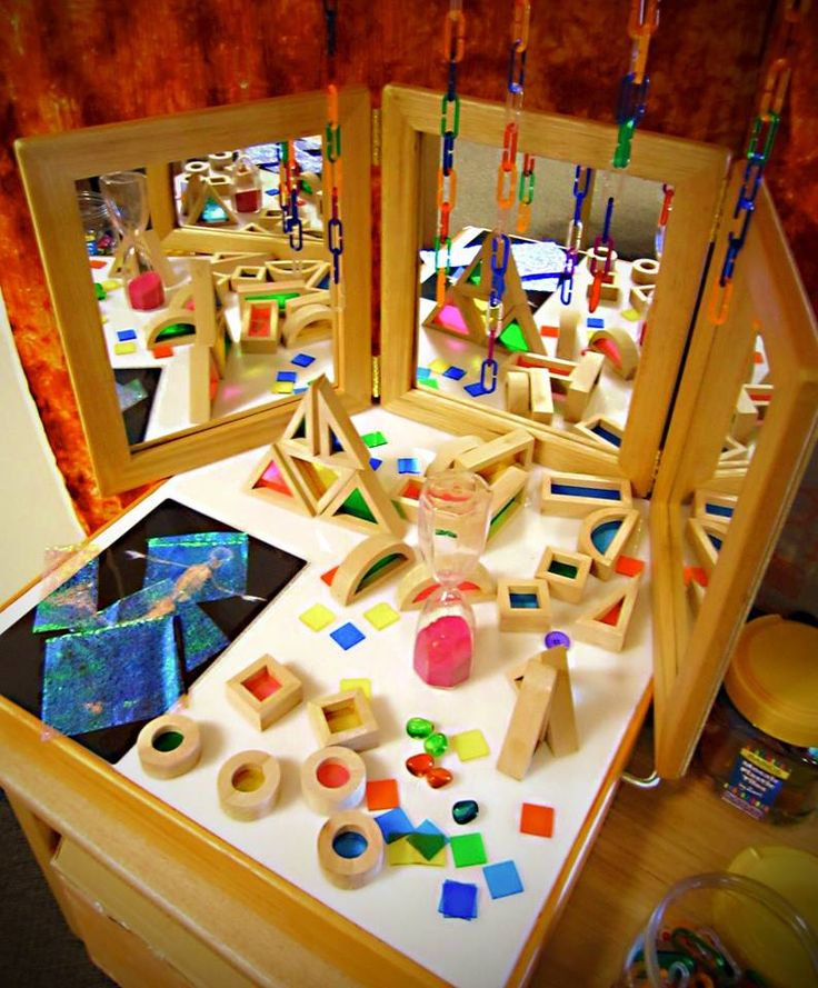 Blocks, color, mirror provocation ≈≈ Selecting Toys That Promote an Understanding and Love of Science, Technology, Engineering and Mathematics (ST…