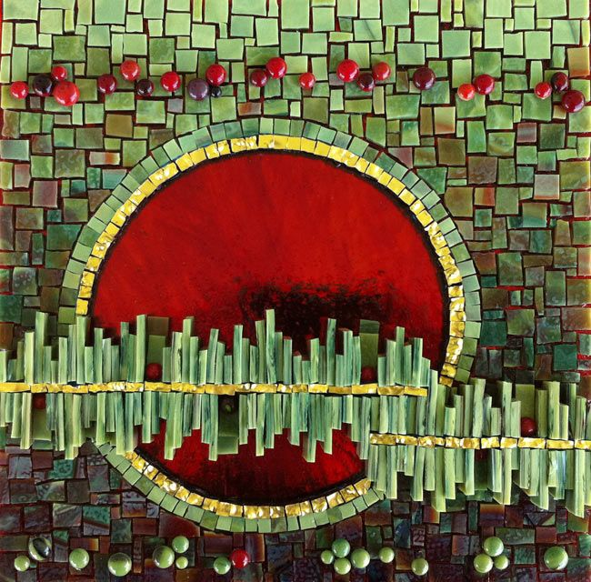 Red Moon Rising by © Kelley Knickerbocker Architectural and Fine Art Mosaic, via rivenworksosaics.com