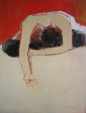 "Saatchi Art Artist Isabel Makianich; Painting, ""Relaxed Model"" #art"