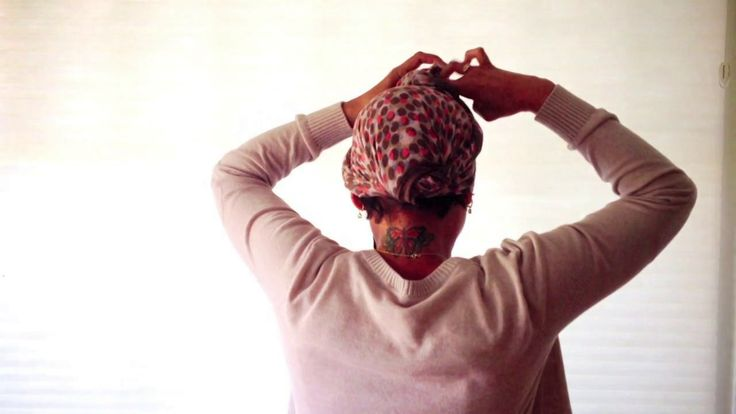 Hair Scarf Tutorial. Tutorial for Cancer Patients: How to Tie A Braided Head Scarf
