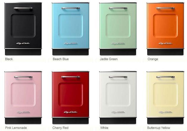vintage inspired dishwashers via Big ChillDecor, 1950S, Colors, Chill Retro, 1950 S Appliances, Kitchens Dreams, Dishwashers, House Kitchens, Big Chill