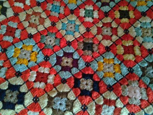 Verev birleştirdiğim Afgan motif.Dilek Kaya