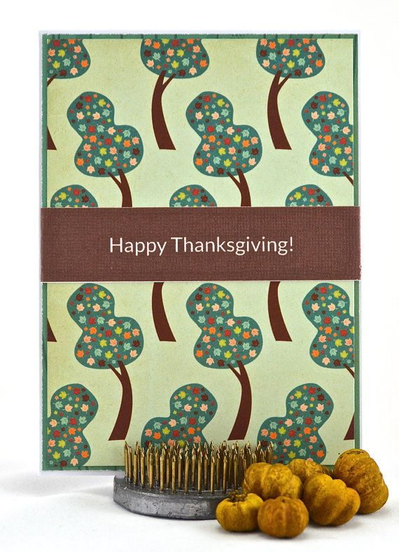 Happy Thanksgiving Card  Thanksgiving Greeting by thecardkiosk