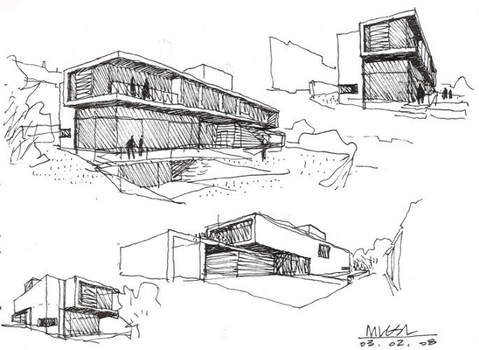 Architectural Drawing Sketch 223 best architecture sketches & drawings images on pinterest