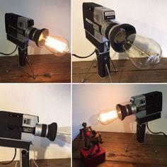 Lampe orignale deco ancienne camera super 8 vintage deco loft
