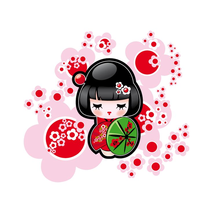 stickers kokeshi autocollants japonais enfant sticker