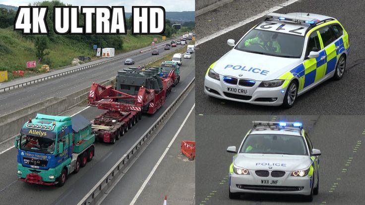 Wide load police escort of 235 tonne generator on motorway