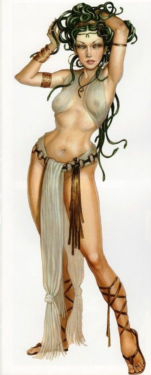 Medusa one of my favorites from greek mythology <3