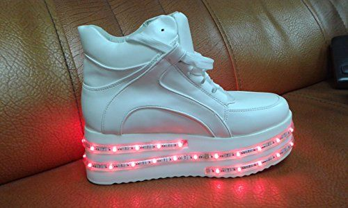 Acever Double-layer LED Lights Sports Shoes Sneakers Flashing Shoes(US7-Women) @ niftywarehouse.com #NiftyWarehouse #Halloween #Scary #Fun #Ideas