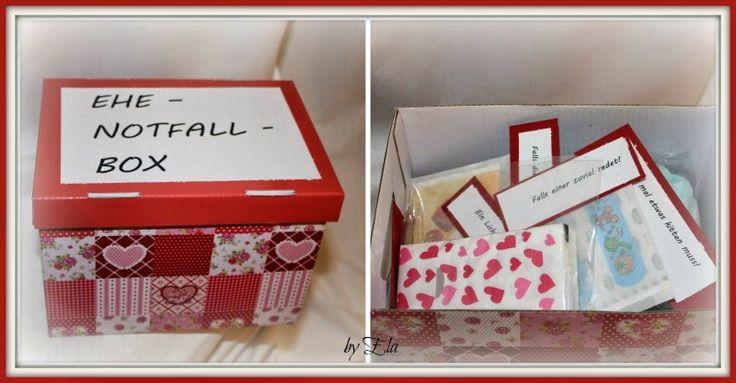 Kreatives Familienchaos: Ehe-Notfall-Box | Geschenke zur ...