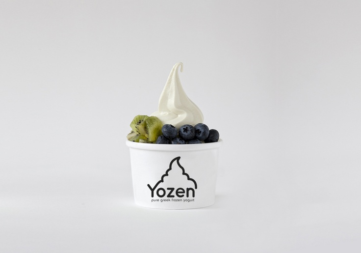 Yozen (pure greek frozen yogurt) Packaging Side A - minimoko's work