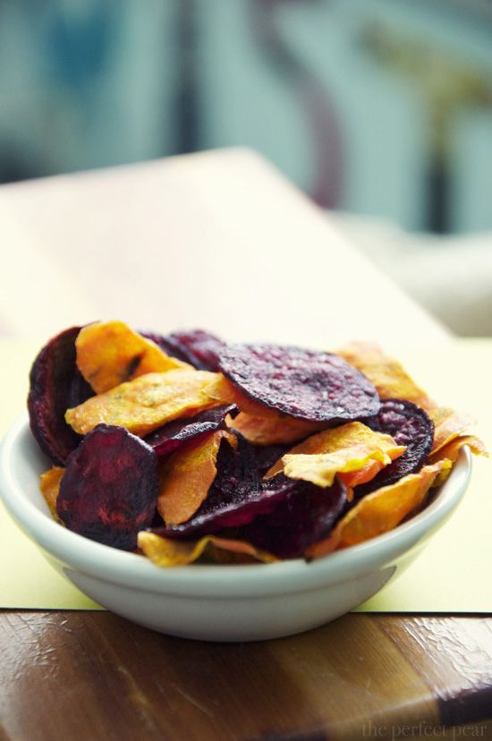 Beet and Carrot Chips! (made in the microwave!!) - The Perfect Pear