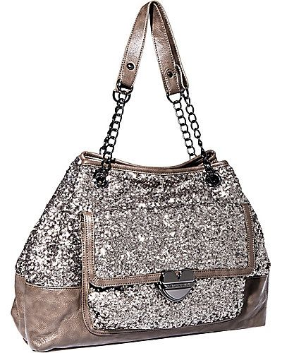 $118.00 Fairy Dust Tote Taupe-Betsy Johnson