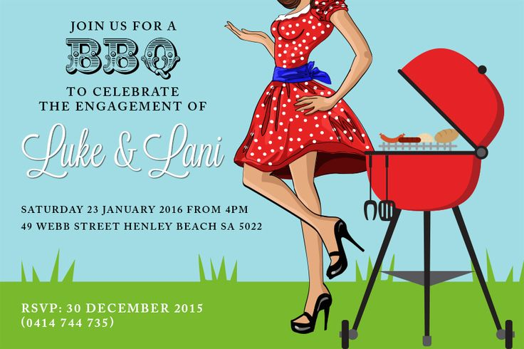 #BBQparty #BBQinvitation #BBQengagement