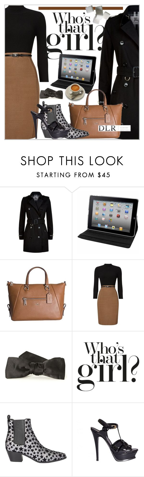 """""""DLRBOUTIQUE.COM"""" by mirachu-1 on Polyvore featuring Burberry, Natico, Coach, Phase Eight and Yves Saint Laurent"""