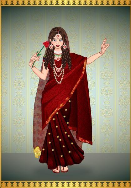 Princesa Gabriela en traje Indu