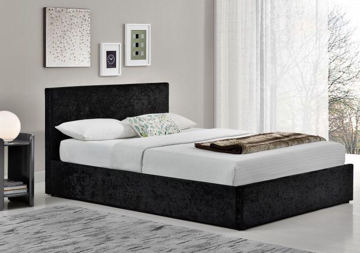 Birlea Berlin Black Crushed Velvet Ottoman Bed – iDealsDirect