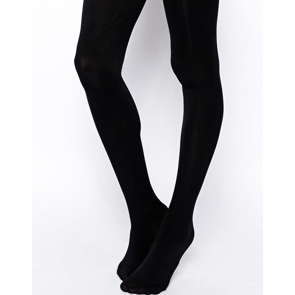 ASOS 50 Denier Black Tights ($5.70) ❤ liked on Polyvore featuring intimates, hosiery, tights, black, opaque tights, black hosiery, opaque stockings, black pantyhose and asos