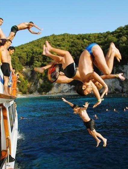 A Sunshine Booze Cruise in Kavos Corfu Greece