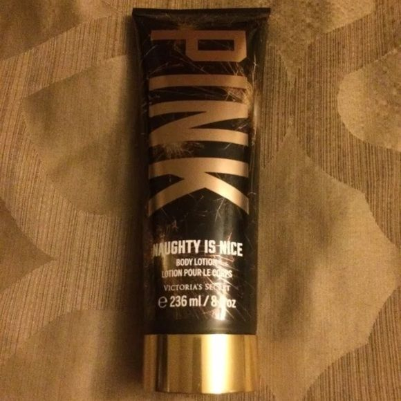 Victorias Secret PINK NAUGHTY IS NICE Body lotion Lavender macaron and tonka .. 8 ounces.. Just used twice. Smells great! Victoria's Secret Other