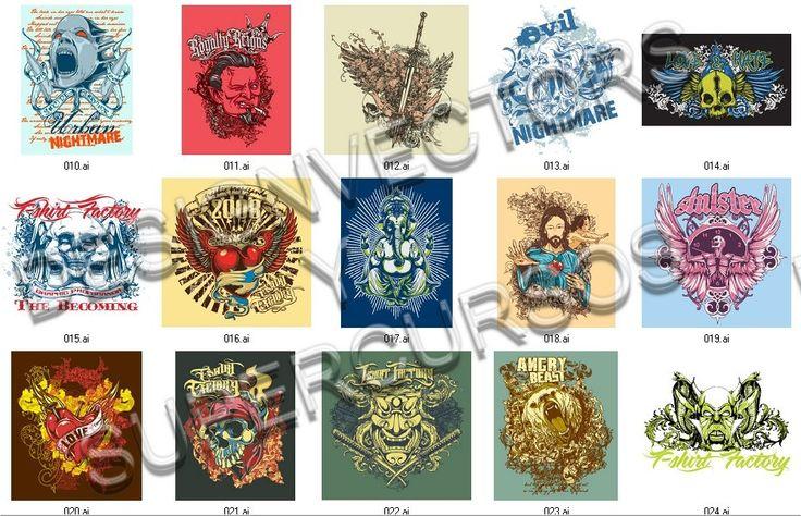 159 Dibujos Vectorizados para niños y otros Serigrafia Estampado ...