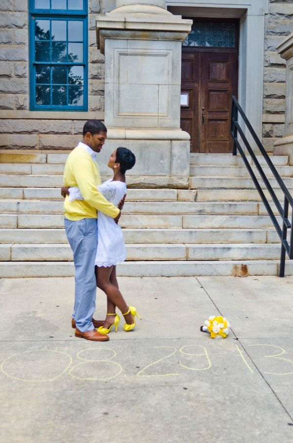 Atlanta Courthouse Wedding With Yellow Color Scheme By Fotos By Fola: Teryn  And Corey