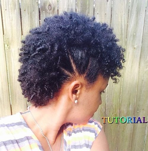 fauxhawk hairstyle for short natural hair by 4aDaniels (youtube)