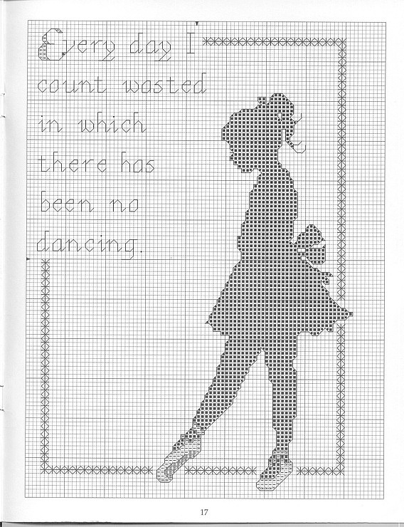 Gallery.ru / Фото #137 - MONOCROMÁTICOS 2 - samlimeq Technically a cross stitch pattern but could be followed for beads
