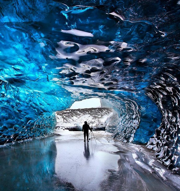 Crystal Cave, Iceland.