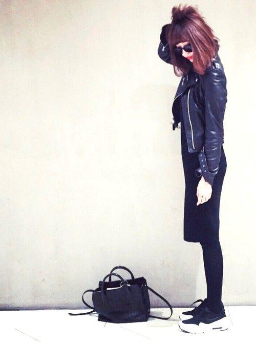 schottのライダースジャケット「Schott/ショット/218W Womens LAMB ONE STAR/ラムワンスター」を使ったGのコーディネートです。WEARはモデル・俳優・ショップスタッフなどの着こなしをチェックできるファッションコーディネートサイトです。