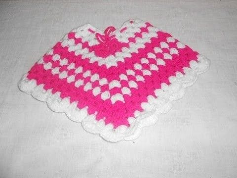 Poncho em crochê para crianças muito facil e bonito Parte 1 - Crochet Poncho - Gancillo Poncho