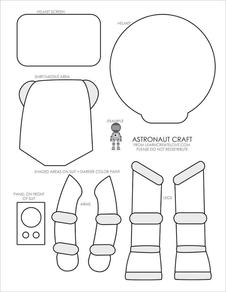 Astronaut Template for Kids , 49 Best Preschool Planets