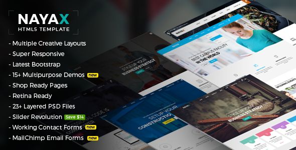 Nayax - Creative & Modern Multipurpose . Nayax has features such as High Resolution: Yes, Compatible Browsers: IE10, IE11, Firefox, Safari, Opera, Chrome, Edge, Compatible With: Bootstrap 3.x, Columns: 4+