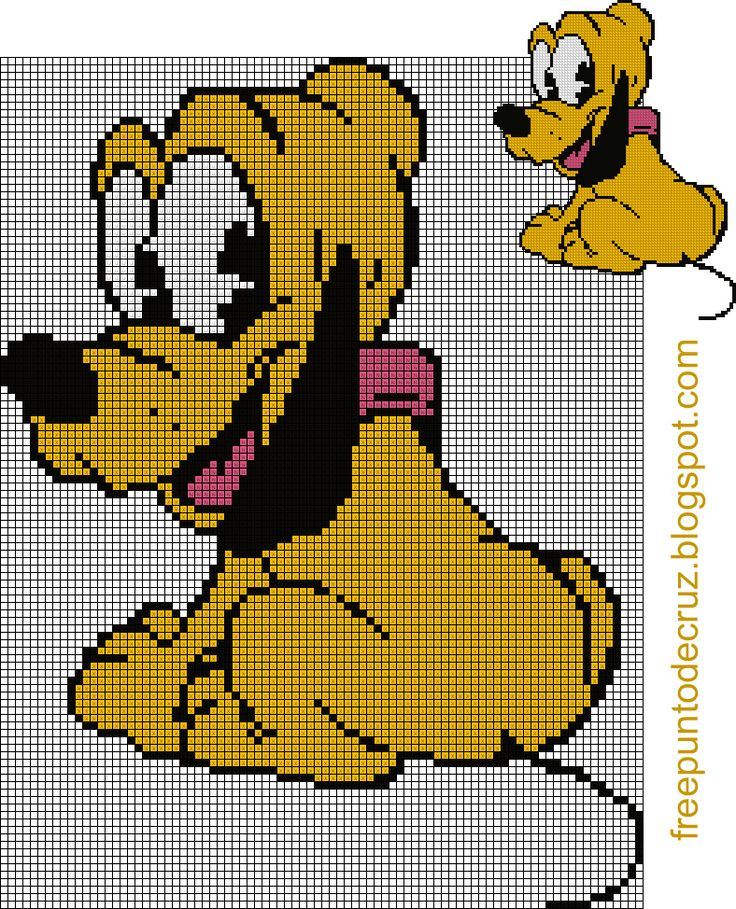 Pluto punto de cruz  - Cross Stitch
