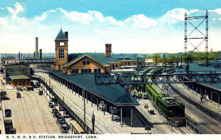 BRIDGEPORT CT - NYNH and H Railroad Station - circa 1925 ...