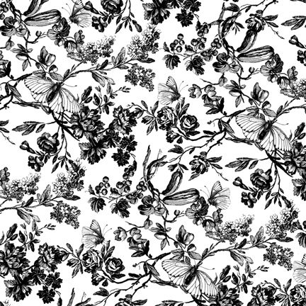 Best 2290 design de superfcie images on pinterest backgrounds 013 floral print black white mightylinksfo