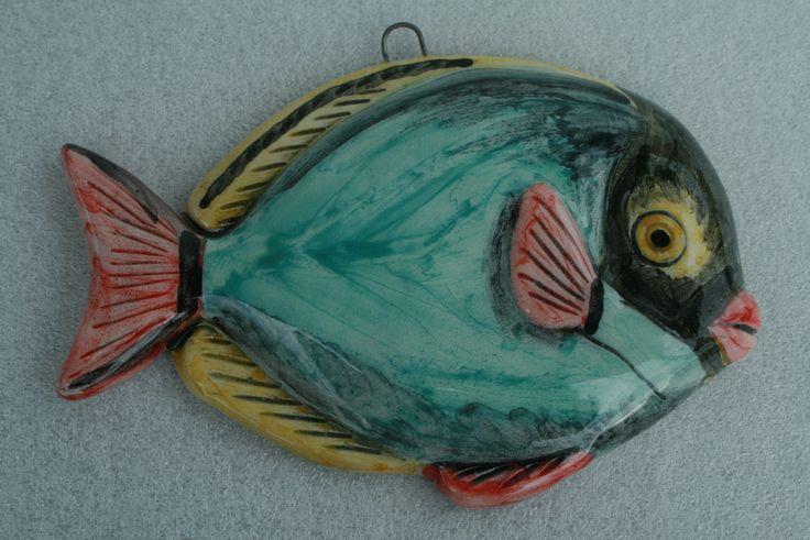 Pesce in ceramica, decorazione da parete   Ceramic fish wall hanging