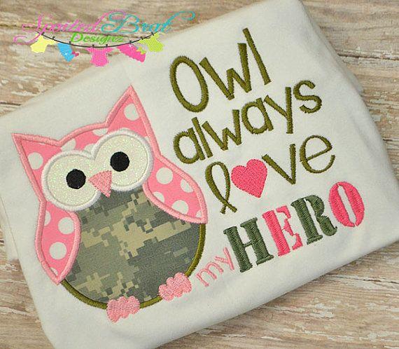 Owl Always love my Hero Embroidered Tee by spoiledbratdesignz, $22.00