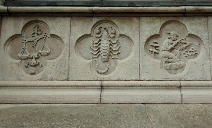 Photo: Scorpion stonework, house on Lilla Nygatan, Stockholm, Sweden; photo S. Heard. How many legs is that again? Oh well, at least the error isn't carved in stone. Oh, wait…. It woul…