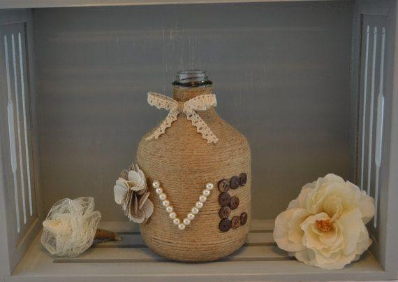 Vaso di fiori di tela da imballaggio vaso unico rustico