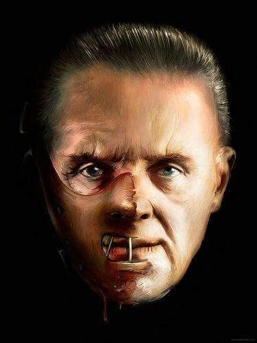 """Horror Movie Art : The Silence Of The Lambs 1991 """"Dr. Hannibal Lecter"""" by Sylvadove"""