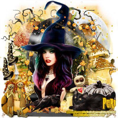 "MI RINCÓN GÓTICO: CT for GoF Designs, ""Little Witch"""