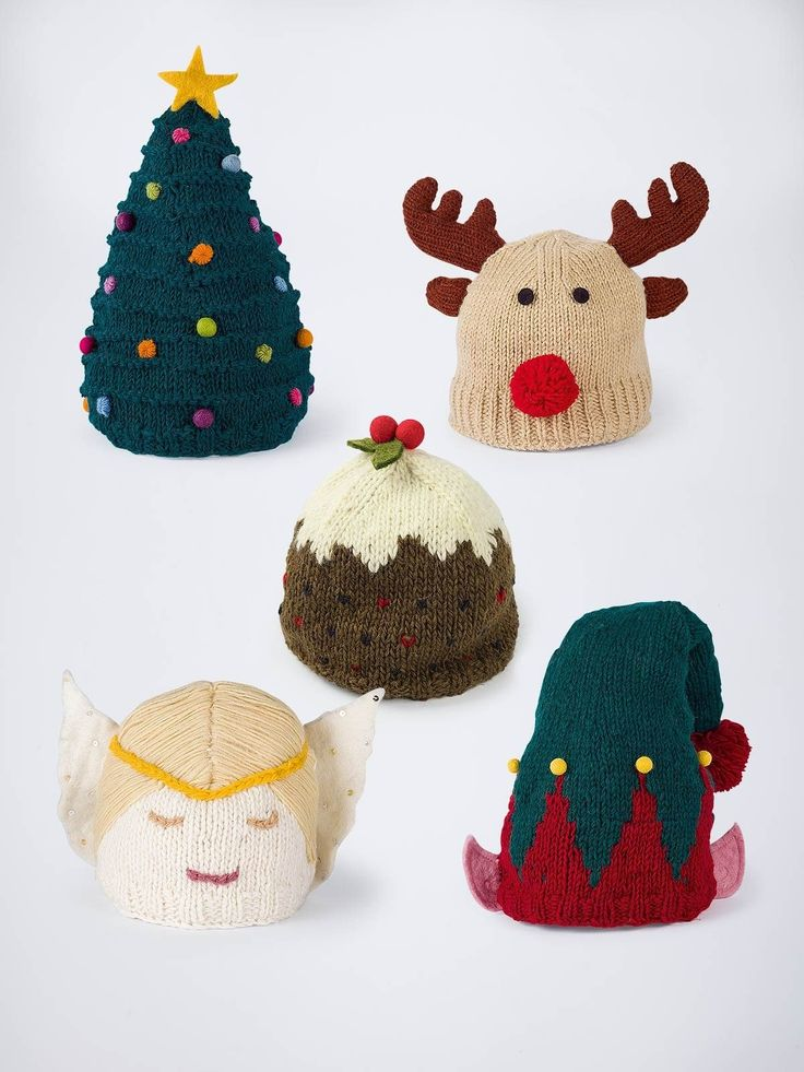 Christmas Hats - Christmas is coming and this amusing bit of knit-wit is sure to raise a smile while carving the turkey. No novelty nasties here, these fun hats are made by hand from 100% wool and lined with fleece to warm your Christmas cockles. Choose from Tree, Rudolph, Pudding, Angel or Elf.