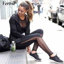 Vertvie Women Yoga Leggings Skinny Mesh HIgh Waist Running Sports Pants Workout Gym Fitness Pant Tights Women Ropa Deportiva //Price: $US $8.79 & FREE Shipping //