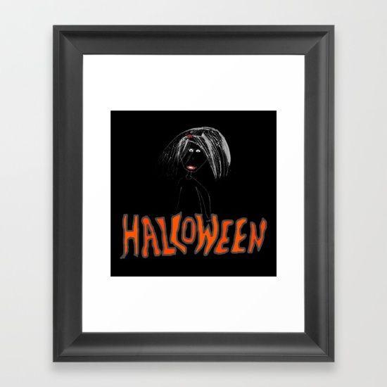 Halloween Girl | Nightmare | Kids Painting | by Elisavet - $35