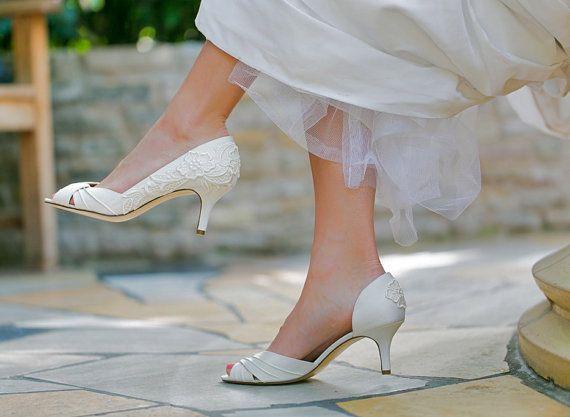 Ivory Wedding Shoes Ivory Bridal Shoes Wedding by walkinonair