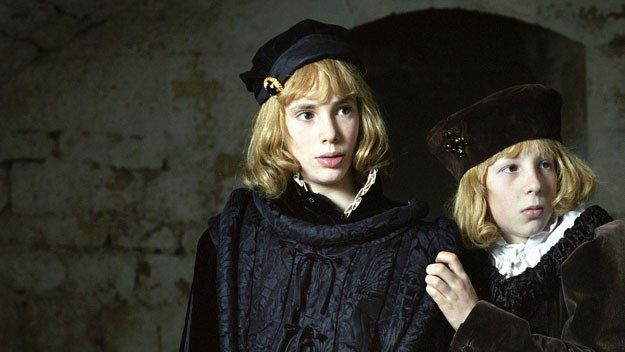 The Princes in the Tower, as depicted in the 2005 film. http://simon-rose.com/books/the-sorcerers-letterbox/