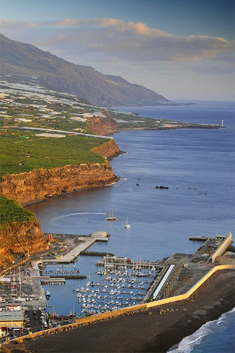 Puerto de Tazacorte, Isla de La Palma. Islas Canarias