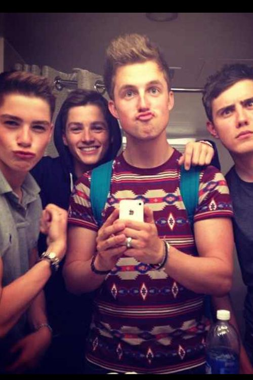 """I seriously can not get over this picture... we have Marcus being the leader and the king of the duck-faces, jack trying to be all serious and seductive, finn in the back, obviously confused so hes just smiling, and Alfie there like """"why am I with these people?"""" It's beautiful xx"""